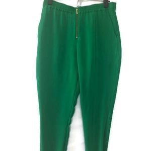 Soft Surroundings PM Green Zip Front Lightweight